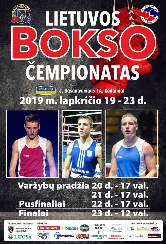 Lietuvos bokso čempionatas 2019